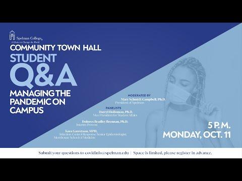 Spelman College Student Q&A Hall - Oct. 11, 2021