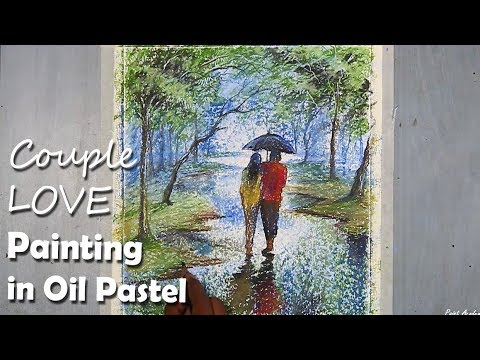Pastel Painting | Loving Couple Walking in the Park (Speed Art Video)
