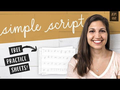 Style Studies: Simple Script (+ Free Practice Sheets!)