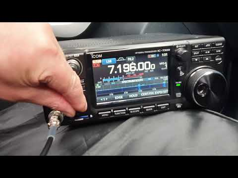Mobile Hf nice and simple! icom 7300.