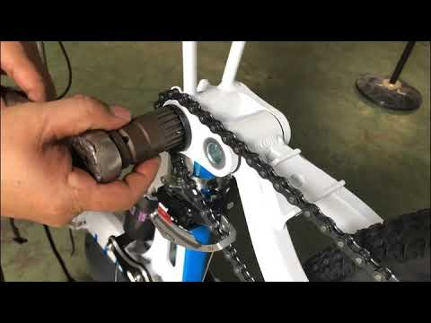 How to remove and install the Crank, Center Axis AN-EB002
