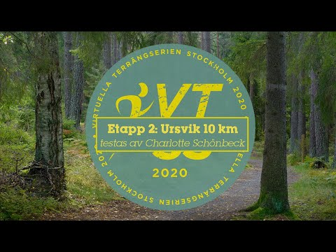 Charlotte Schönbeck besegrar terrängen i Ursvik under etapp 2 i VTSS