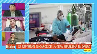 Se reportan 20 casos de la nueva cepa brasileña en Oruro