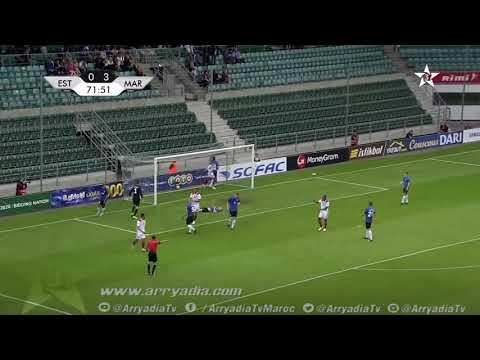 المنتخب المغربي 3-0 منتخب إستونيا هدف يوسف النصيري