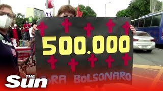 COVID-19: Brazil hits 500,000 Covid deaths as President still refuses to back social distancing