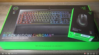 Vidéo-Test : Razer BlackWidow Chroma Keyboard & Basilisk Essential Mouse: Unboxing et Test Video Review FR