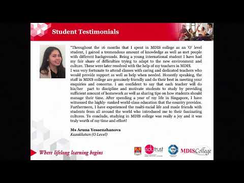 MDIS Virtual Fair 2021 - The College Experience