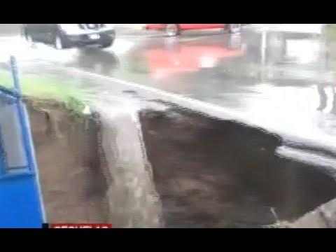 Se reporta socavamiento en la ruta a San Miguel Petapa