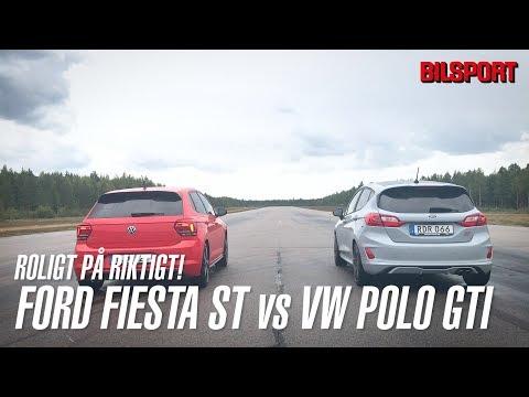 VW Polo GTI vs Ford Fiesta ST - roligt på riktigt! (Bilsport 15/2018)