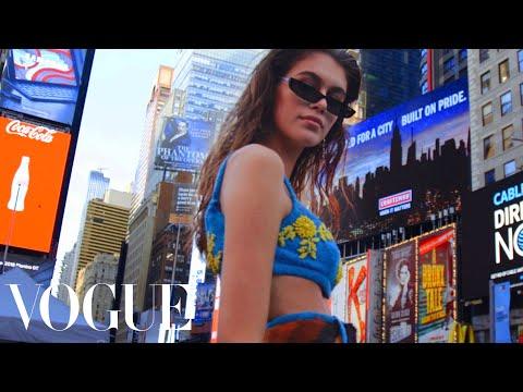 Inside Kaia Gerber's Whirlwind First Fashion Week   Vogue