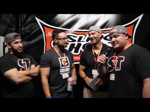 Layne Norton and Paul Revelia at the LA Fit Expo Slingshot Booth
