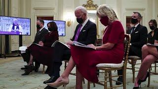 Biden, Harris attend virtual prayer service at White House