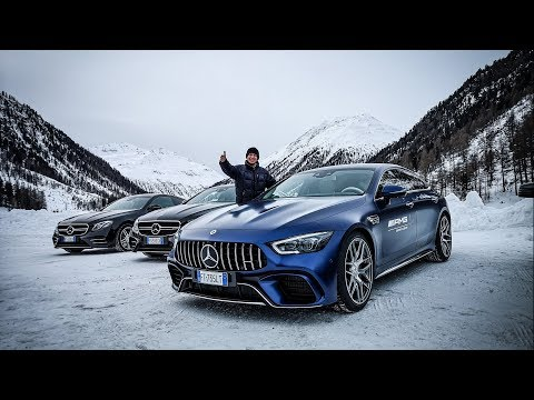 Sliding +1400cv of Mercedes AMG Cars in the Snow! ? [Sub ENG]