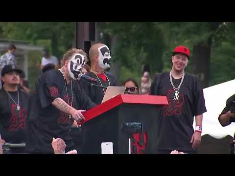 Insane Clown Posse allege discrimination after being labeled as a gang by the FBI