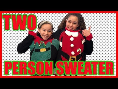 TWO Person Sweater Challenge! (Gracie & Olivia Haschak)