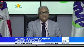 Ministro de Salud informa nuevos casos  Covid-19 y fallecimiento de Jenny Polanco