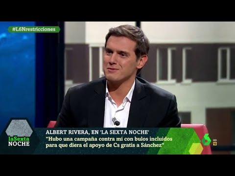"""El elogio de Albert Rivera a Pedro Sánchez por su """"estrategia electoral"""" - laSexta Noche"""