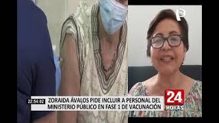 Vacuna covid-19: Fiscal de la Nación exhorta al Gobierno incluir a personal del MP en primer grupo