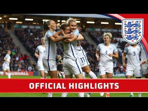 England Women 3-0 Austria Women (2017 Friendly) | Official Highlights