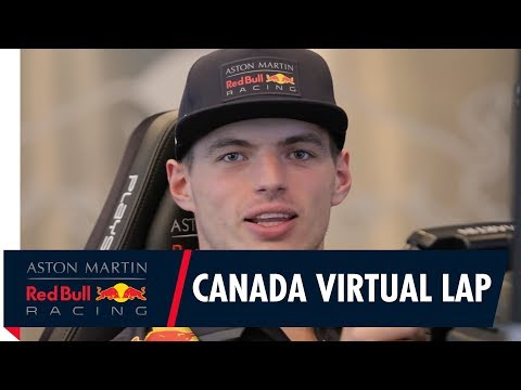 Max Verstappen's Virtual Lap of The Circuit Gilles Villeneuve