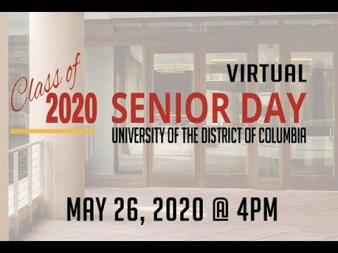 UDC/DCPS Senior Day - May 26, 2020