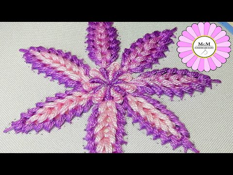 Cluster Stitch |How to embroider a flower| hand embroidery