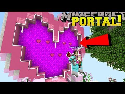 Minecraft: PORTAL TO THE VALENTINE'S DAY DIMENSION!!! - Custom Map