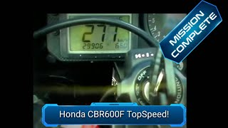 Honda CBR600F Top Speed (Fastest on Youtube!!!) - YouTube