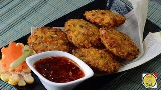 Fried Corn Cakes with Green Onions ..