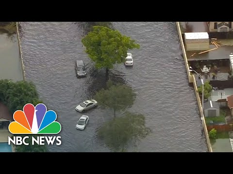 Aerial Footage Shows Massive Floods In Florida From Tropical Storm Eta | NBC News NOW