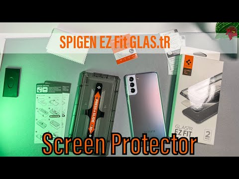 SAMSUNG Galaxy S21 / S21 PLUS Screen Protector   Spigen EZ Fit Tempered Glass Test and Installation