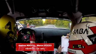 Abarth 124 Rally || POV Onboard 197 km/h || Andrea Nucita and Marco Vozzo  || Rally Due Valli 2017