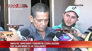Cuarta ronda del salario mínimo en Nicaragua y sin acuerdos