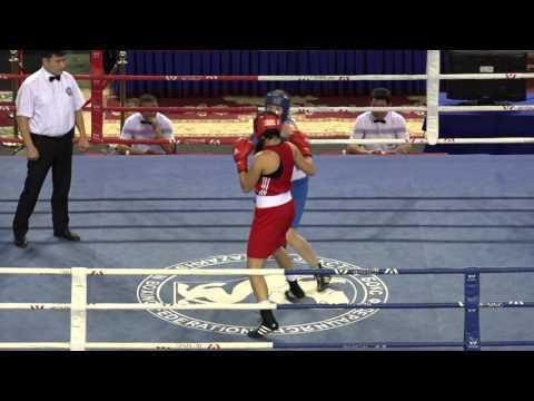 Kazakhstan women's boxing championships 2016, final, 69 kg