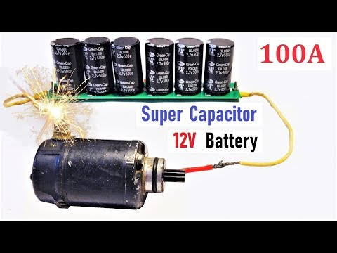 12v 100A Super Capacitor Battery for High Current DC Motor - Amazing Idea