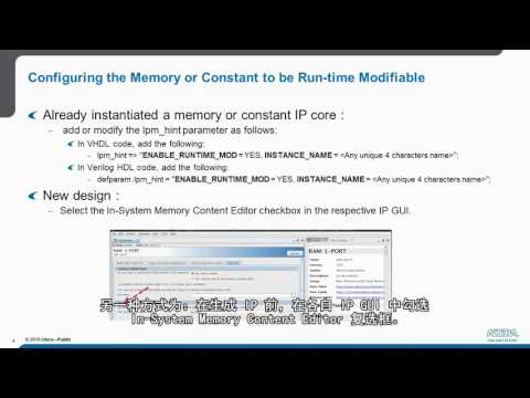 How To Use In-System Memory Content Editor