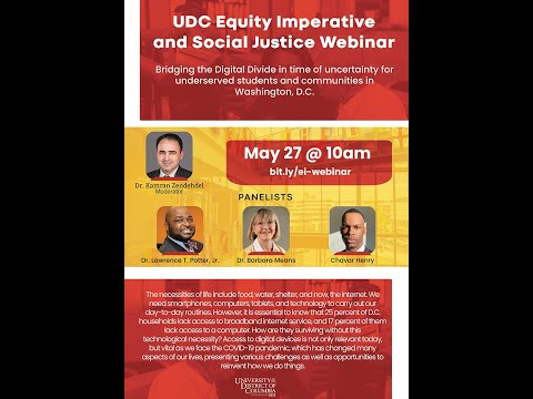 UDC Equity Imperative and Social Justice Webinar 5/27/20