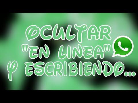 OCULTAR «EN LINEA» Y «ESCRIBIENDO…» EN WHATSAPP / EXCELENTE APP!!