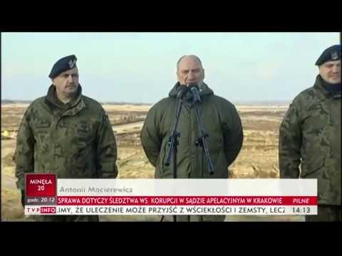 Szef MON Antoni Macierewicz podsumował ćwiczenia Borsuk 2017