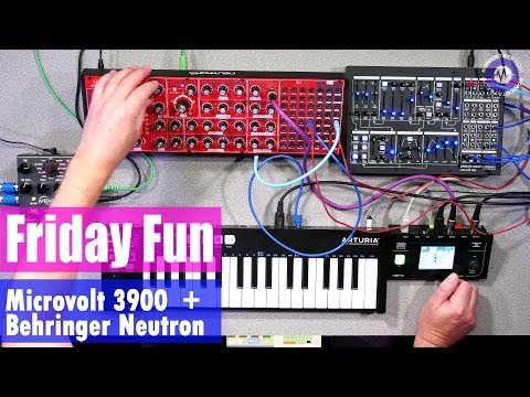 Friday Fun - Pittsburgh Microvolt 3900 + Behringer Neutron Synth Jam