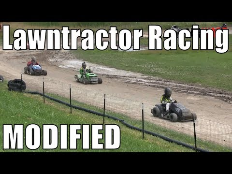 Modified Class Lawntractor Racing At Western Ontario Outlaws July 21 2019