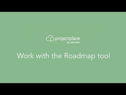 Work with the Roadmap tool
