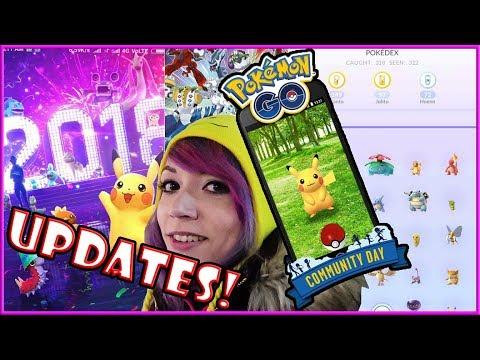 COMMUNITY DAY + NEW UPDATES FOR 2018 IN POKEMON GO!!