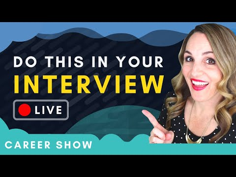 How To Make A GOOD First Impression In a Job Interview + LIVE Career Q&As photo