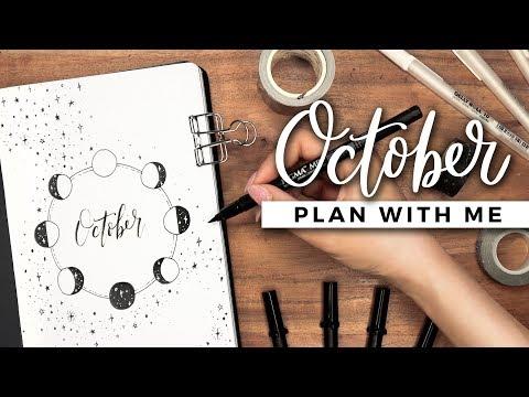 PLAN WITH ME | October 2019 Bullet Journal Setup