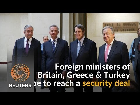 Leaders meet at the U.N. to discuss Cyprus settlement