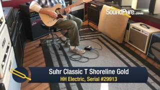Suhr Classic T Shoreline Gold HH Electric #29913 Quick n' Dirty