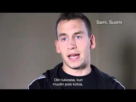 Elämässä eteenpäin (På väg ut i livet -  finsk text)