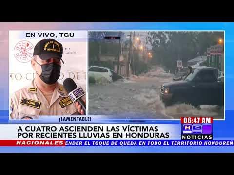 ¡Precaución! A cuatro sube cifra de muertes por recientes lluvias en Honduras