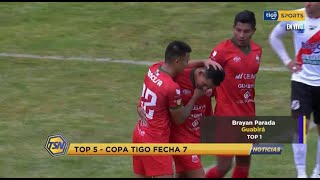 #TSNoticias???? El top 5 de la copa Tigo fecha 7 #TigoSportsBo?